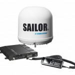 Cobham Sailor Fleet One Terminal with IP Handset