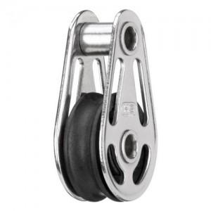 Sliding bearing block 6mm - 1 sheave, hollow axles