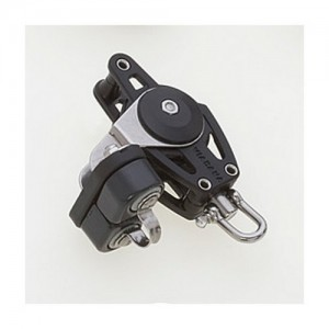 Single Carbo Block 10x38mm, swivel, becket, camcleat