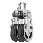 Sliding bearing block 6mm - 2 sheaves, bow