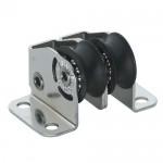 Micro XS upright block ball bearing 6mm - 2 sheaves