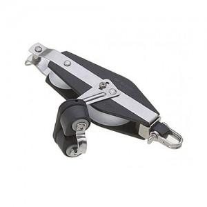 Fiddle Block 10x45mm, swivel, becket, camcleat