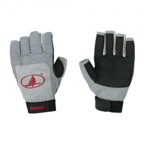 "Gloves ""Harken"" 3/4 fingers, gray"