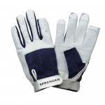 "Gloves ""Sprenger"" long fingers, navy"