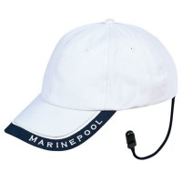 Cap with retaining strap