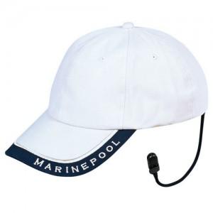 Cap with retaining strap