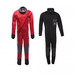 "Kids' ""Racing Drysuit"" (red) and ""Fleece Overall"""