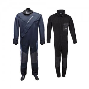 "Kids' ""Racing Drysuit"" (navy) and ""Fleece Overall"""