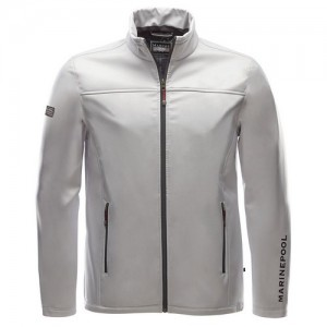 "Men's Jacket ""Crew Softshell"" silver"