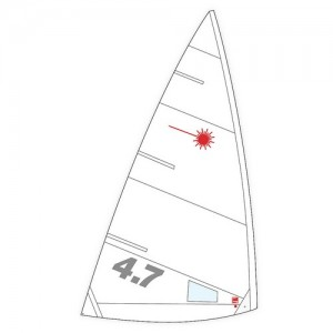 Laser 4.7 Buttoned Sail