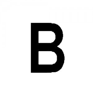 Sail Letter 30,5 cm - B