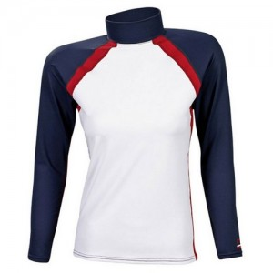 Men's Rash Guard white/navy/red