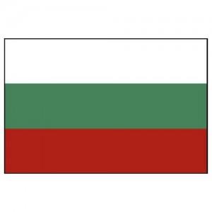 Flag Bulgaria 25x40cm sewn