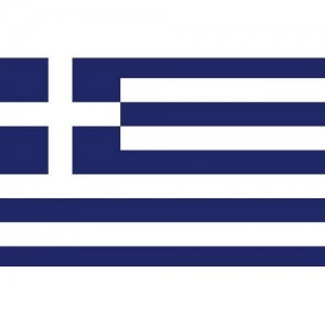 Flag Greece 20x30cm printed