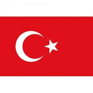 Flag Turkey 30x45cm printed
