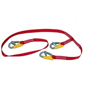Safety line MX 6 ISO with 3 hooks