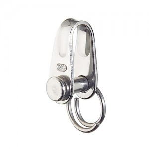 Flat shackle short - stainless steel, 17x8mm