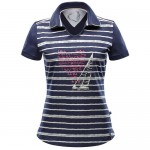 "Women's Polo ""Vida"" navy/white"