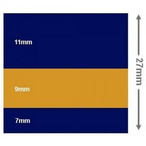 Waterline tape 27mm x 10m Blue, Gold, Blue