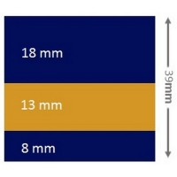 Waterline tape 39mm x 10m Blue, Gold, Blue