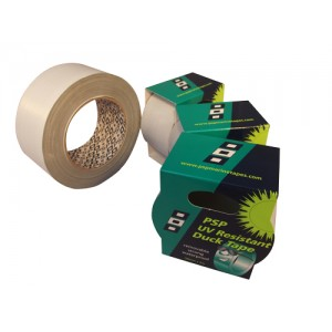 Duck tape 50mm x 5m lt.gray with UV protection